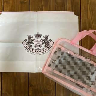 ジューシークチュール(Juicy Couture)のJUICY COUTURE ジューシークチュール ビニールバック(巾着付き)(タオル/バス用品)