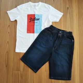 ザショップティーケー(THE SHOP TK)の【新品】150 男児用 Tシャツ&ジーンズセット(Tシャツ/カットソー)