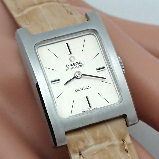 OMEGA(オメガ)のOH済 1970年製 オメガデビル レクタングル レディース 自動巻き 極美品 レディースのファッション小物(腕時計)の商品写真