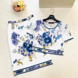 LEONARD - 美品 LEONARD レオナール  美しい花柄 セットアップ スーツ