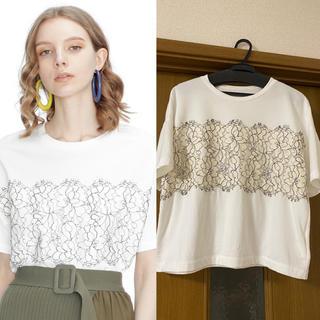 GRACE CONTINENTAL - GRACECONTINENTAL♡リバーレースTシャツ