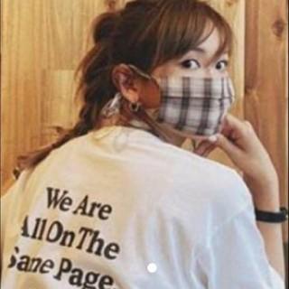 紗栄子 マスクカバー  think the day チャリティーTシャツ(白)L