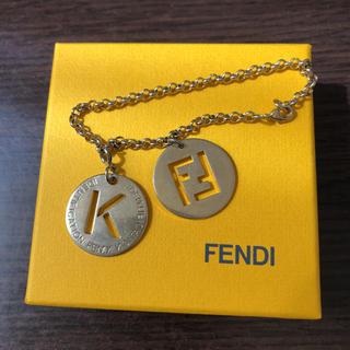 フェンディ(FENDI)のFENDI フェンディ ブレスレット  チャーム イニシャルK(ブレスレット/バングル)
