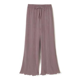 GRL - 裾メロウカットプリーツフレアパンツ GRL くすみピンク