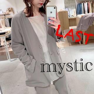 ミスティック(mystic)の新品♡¥9350【mystic】ノーカラージャケット (ノーカラージャケット)