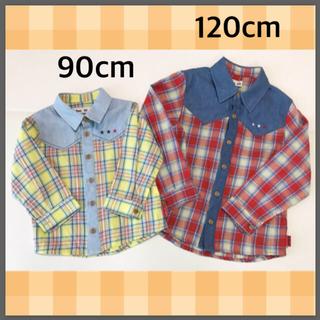 ボブソン(BOBSON)の美品 キムラタン シャツ 120 90 兄弟 お揃い ボブソン トップス(Tシャツ/カットソー)