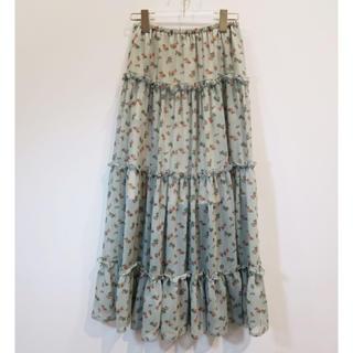 ハニーミーハニー(Honey mi Honey)のHoney mi Honey ♡ rose tiered skirt(ロングスカート)