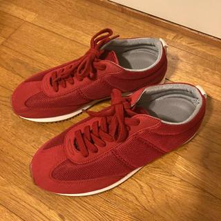 MUJI (無印良品) - 無印良品 レディース スニーカー 靴 赤