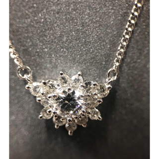 ダイヤモンド1ct pt850 ネックレス(ネックレス)