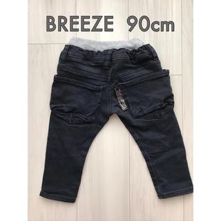 BREEZE - BREEZE ブリーズ キッズ ブラックデニムパンツ 90cm オシャレポケット