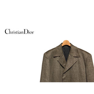 クリスチャンディオール(Christian Dior)のChristian Dior カシミア チェスターコート / ヘリンボーン(チェスターコート)