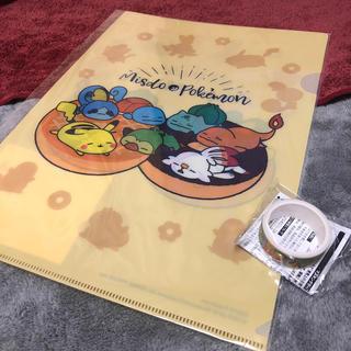 ポケモン(ポケモン)のミスド × ポケモン クリアファイル&マスキングテープ(テープ/マスキングテープ)