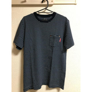 ステューシー(STUSSY)のSTUSSY ボーダー ポケットTシャツ(Tシャツ/カットソー(半袖/袖なし))