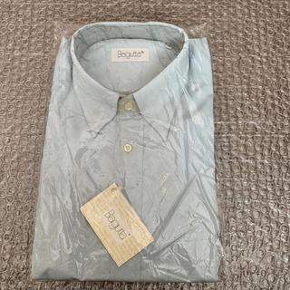 メンズ ワイシャツ 長袖(ブルー)(シャツ)