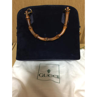 Gucci - GUCCI ハンドバッグ ネイビー 紺色