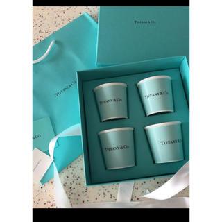 Tiffany & Co. - エスプレッソ カップ 4個入り ティファニー リボン そのまま、未使用