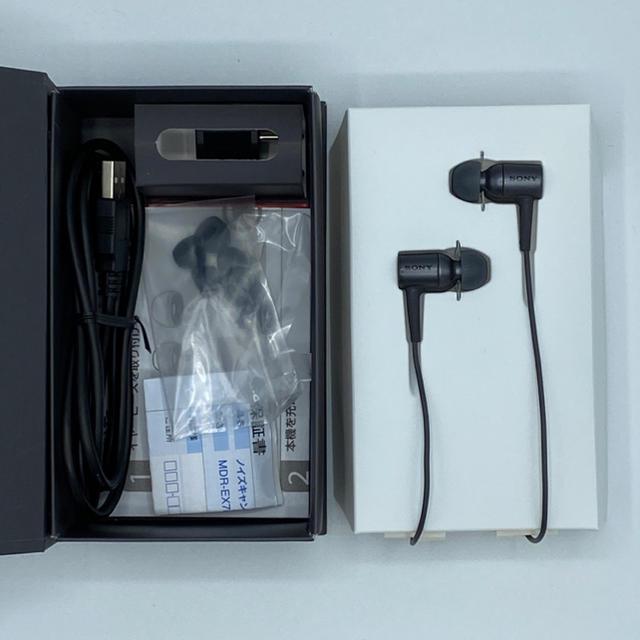 SONY(ソニー)のSONY h.ear in NC MDR-EX750NA ノイキャンイヤホン スマホ/家電/カメラのオーディオ機器(ヘッドフォン/イヤフォン)の商品写真