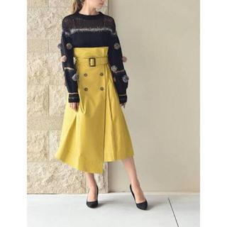 フレイアイディー(FRAY I.D)のFRAY I.D カラシ色 トレンチスカート(ロングスカート)