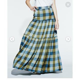 DOUBLE STANDARD CLOTHING - ダブルスタンダード チェックロングスカート
