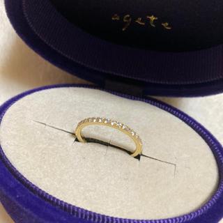 アガット(agete)のagete ダイヤハーフエタニティリング(リング(指輪))