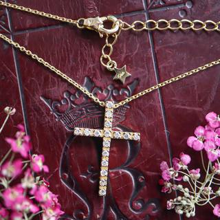 STAR JEWELRY - スタージュエリー k18 ダイヤモンドネックレス クロスネックレス