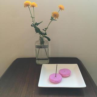 handmade incense stand むらさき(香立て)(お香/香炉)