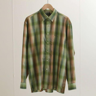 COMOLI - AURALEE super light wool check shirt 4