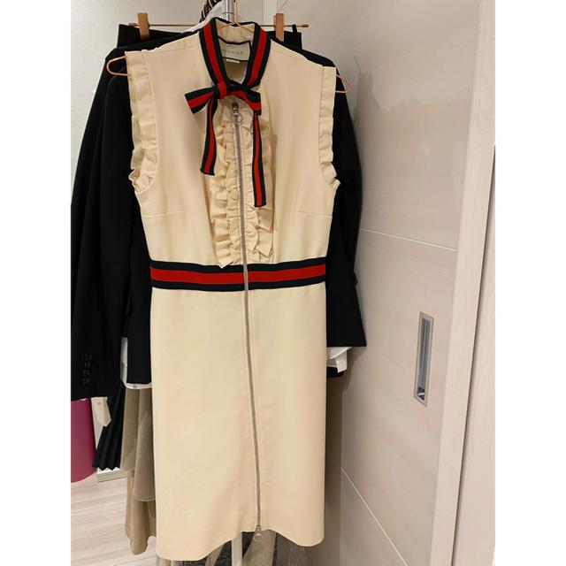 Gucci(グッチ)のGUCCI ジャージーワンピース レディースのワンピース(ミニワンピース)の商品写真