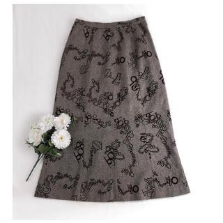 l'atelier du savon - アトリエベル ✽ 数字柄ツイードスカート ✽ 日本製
