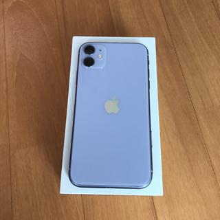 アップル(Apple)のiPhone11 本体 128GB パープル SIMフリー(スマートフォン本体)