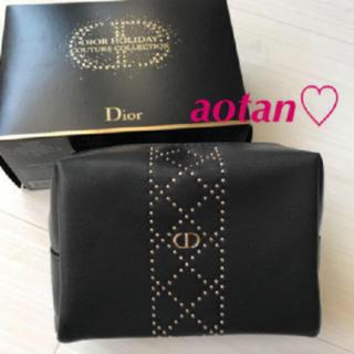 Dior - ディオール Dior ポーチ ブラック スタッズ ノベルティ 非売品 完売 限定