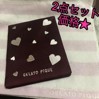 gelato pique - 【新品未使用】サテン ハート 刺繍 折りたたみ ミラー ハンドタオル セット♡