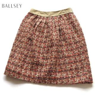 ボールジィ(Ballsey)の美品 BALLSEY ボールジィ ツイードスカート 38(ひざ丈スカート)