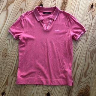 シーケーカルバンクライン(ck Calvin Klein)のカルバンクライン ポロシャツ S  ピンク(ポロシャツ)