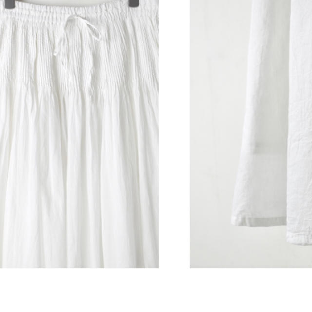 nest Robe(ネストローブ)のORGANIC VOILE MINI PINTUCK FLARED SKIRT  レディースのスカート(ロングスカート)の商品写真