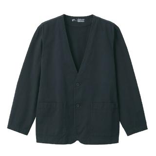 MUJI (無印良品) - コットンリヨセル ノーカラーシャツジャケット