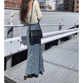 moussy - フラワーロングスカート