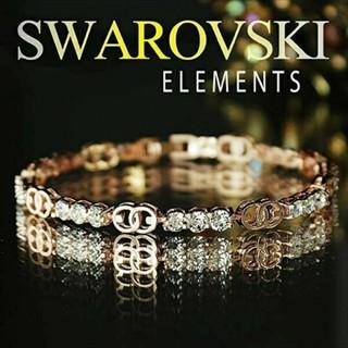 SWAROVSKI - f38🌸ビオラ🌸 スワロフスキー エレメンツ ラグジュアリー ブレスレット