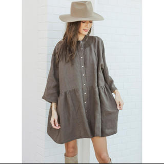 ALEXIA STAM - アリシアスタン Stand Collar Shirt Dress