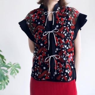 マメ(mame)のPedicel Lace French Sleeve Shirt(シャツ/ブラウス(半袖/袖なし))