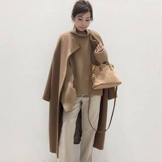 L'Appartement DEUXIEME CLASSE - アパルトモン Over Sized LAMB Coat キャメル