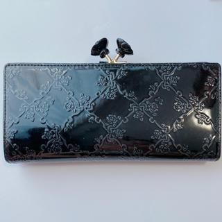 アナスイ(ANNA SUI)のANNA SUI アナスイ がま口 長財布 ウォレット エナメル ブラック 黒(財布)