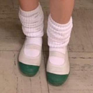 上履き 高校 緑