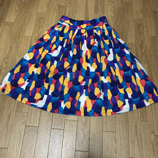 グラニフ(Graniph)のgraniph 水彩柄スカート(ひざ丈スカート)