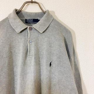 ポロラルフローレン(POLO RALPH LAUREN)の90s Polo by Ralph Lauren コットンニット 刺繍 古着(ニット/セーター)
