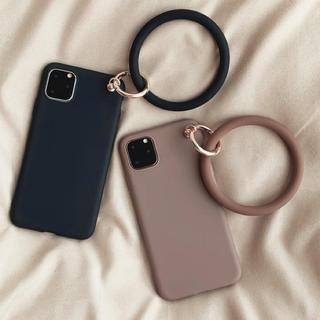 ディーホリック(dholic)の ストラップリング付きiPhoneケース (iPhoneケース)