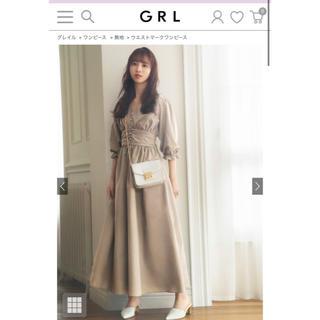 グレイル(GRL)のGRL グレイル ワンピース ベージュ 佐藤楓(ロングワンピース/マキシワンピース)