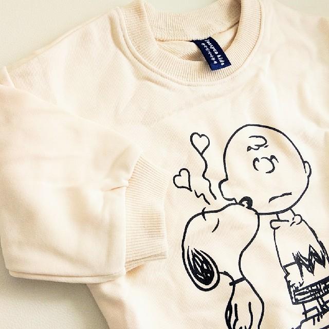 新品 スヌーピー トレーナーロンパース  キッズ/ベビー/マタニティのベビー服(~85cm)(ロンパース)の商品写真