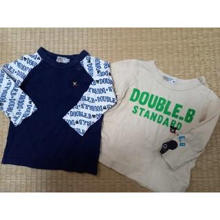 DOUBLE.B - ダブルB80長袖Tシャツ二枚セット