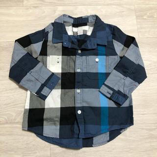 BURBERRY - バーバリーチルドレン チェックシャツ 12M 80cm